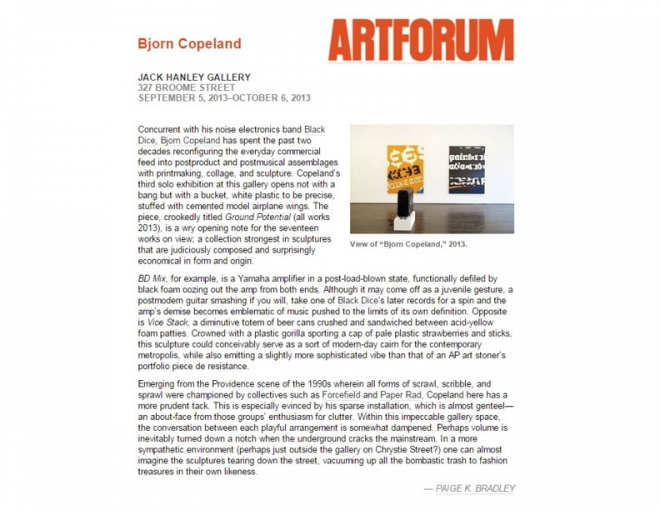 Artforum Critics Pick