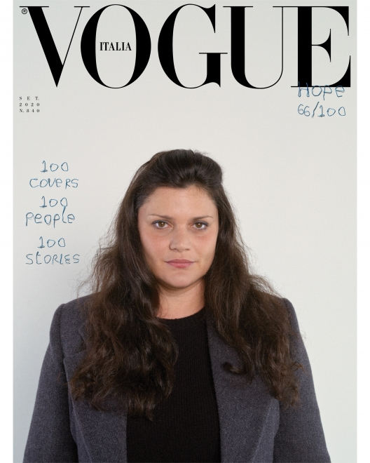Al-Hadid featured on cover of Vogue Italia's historic September 2020 issue