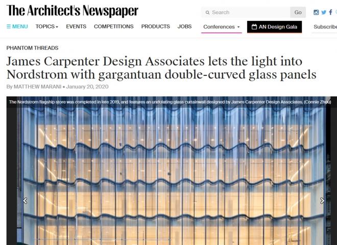 ARCHITECT'S NEWSPAPER OUTLINES JCDA'S WORK FOR NORDSTROM