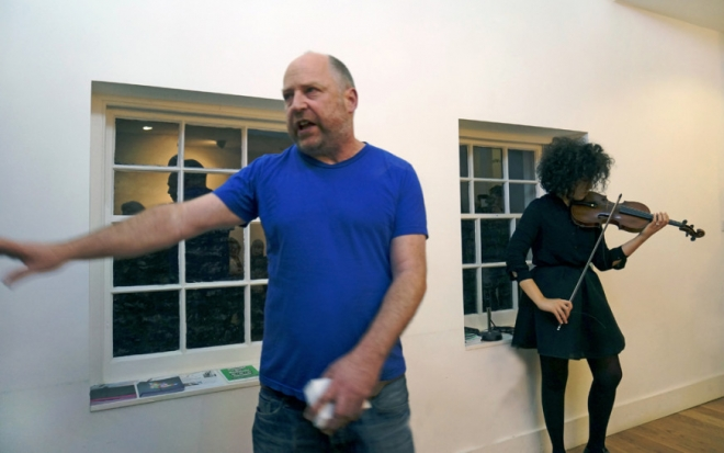 Tim Etchells and Aisha Orazbayeva Perform in London, Friday November 11