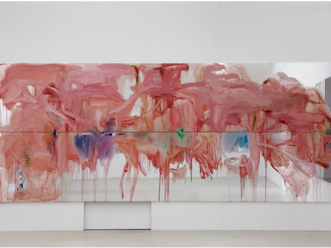 Peter Bonde's Captivating Art Painter on Ultra-Reflective Mirror Foil