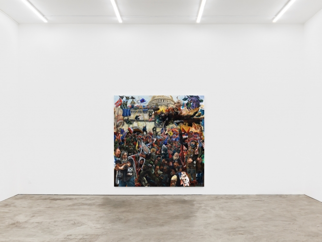 Celeste Dupuy-Spencer Compares Progressives To Evangelicals In A New Painting
