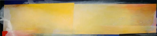 "PAINTING E 1990 Acrylic on canvas 30 x 132"""