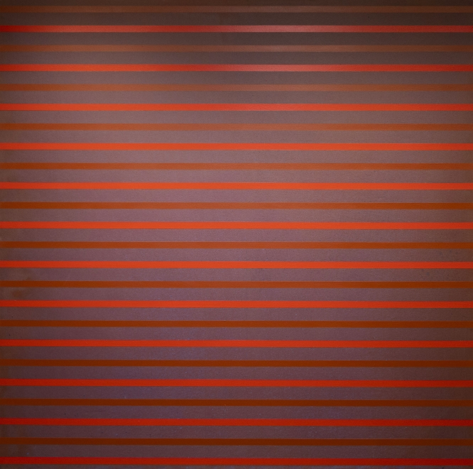 """Red, 2003, Acrylic on canvas, 72 x 72"""""""