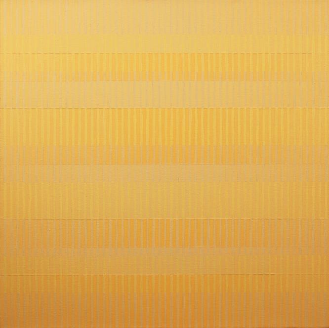 """GREY GRID 11-I-15 2015  Acrylic on canvas, 27 x 27"""""""