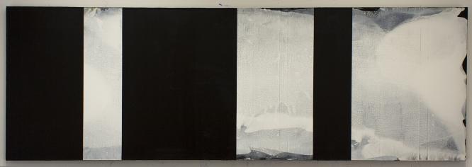 "123 reverse, 2017 Acrylic on canvas, 27 x 81"""