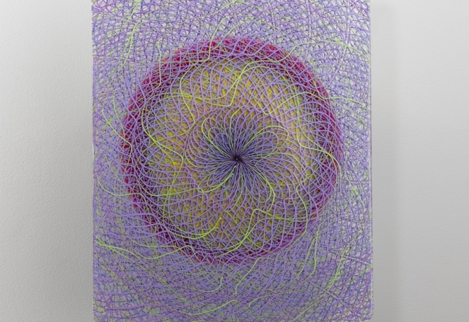 Extroverre Purple and Green Wall Piece