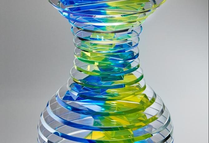 Middy Polished Plate Glass Vase