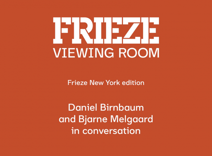 Bjarne Melgaard in Conversation with Daniel Birnbaum / Frieze