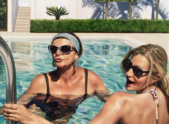 DJ HALL, Mwah, 2016 for REAL WOMEN: Realist Art by American Women