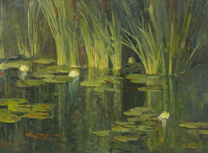 MEREDITH BROOKS ABBOTT, Robert's Pond, 2020 for The Winter Salon, 2020