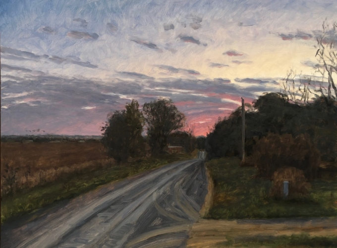 Max Mason, Rosy Fingers, Oil On Canvas