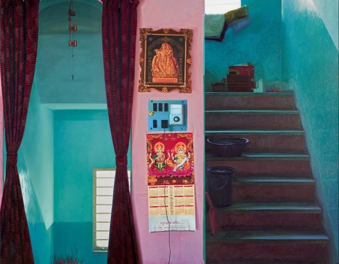 Abir Karmakar, Home, Displacement, Wall III, Oil on canvas