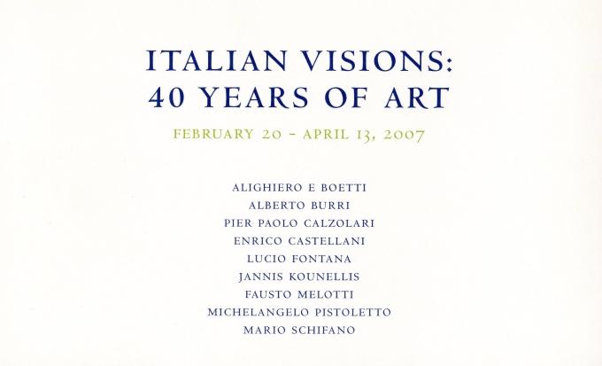 Italian Visions: 40 Years of Art