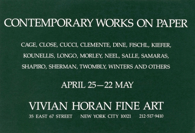 Contemporary Works on Paper
