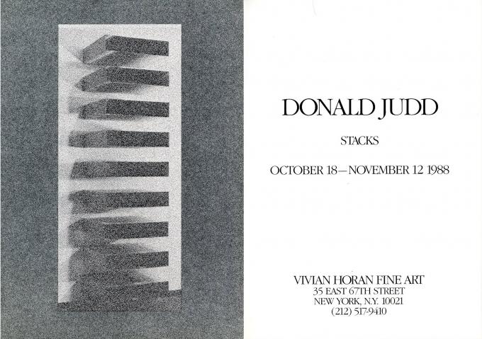 Donald Judd: Stacks