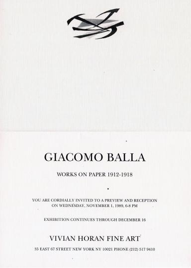 Giacomo Balla: Works on Paper 1912 - 1918
