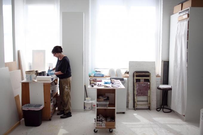 In the studio - Katharina Chapius