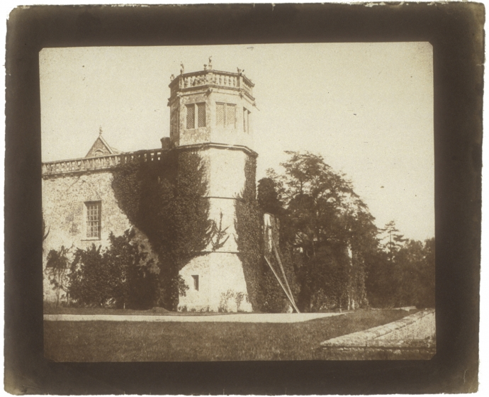 William Henry Fox TALBOT (English, 1800-1877) The Tower of Lacock Abbey, 1845 Salt print from a calotype negative, 16.1 x 19.8 cm