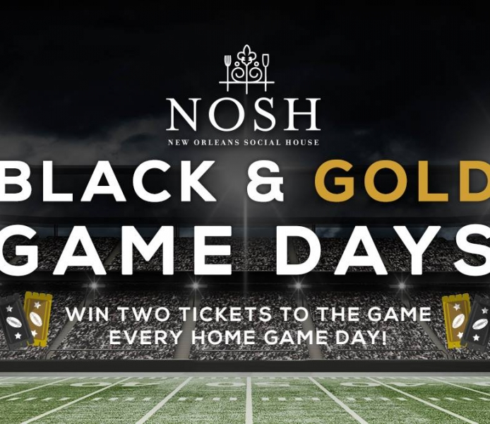 NOSH Black & Gold Game Day Party