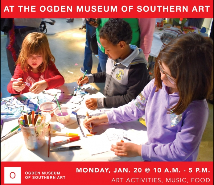 Celebrate Martin Luther King Jr. Day with Art, Performances and Community Partners at the Ogden Museum of Southern Art