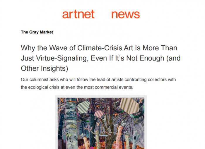 Melanie Daniel press - feature in Artnet