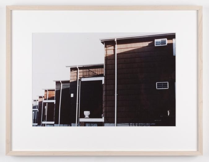 Dan Graham Housing Development, Bayonne, New Jersey, 1966 C-print Framed: 17 1/8 x 22 1/4 inches (43.5 x 56.5 cm)