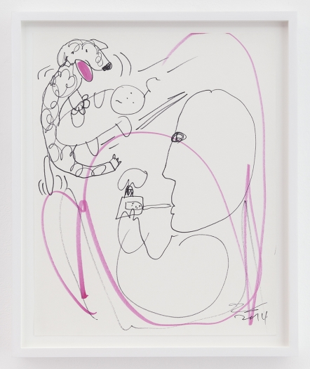 Trevor Shimizu Vape Dad 4, 2014 Ink on paper Paper: 17 x 13 1/2 inches (43.2 x 34.3 cm) Frame: 19 1/4 x 16 x 1 1/2 inches (48.9 x 40.6 x 3.8 cm)