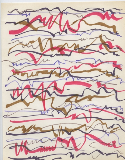 Paul Sharits Untitled, n.d. Colored feltpen on paper 11 x 8 1/2 inches (27.9 x 21.6 cm)