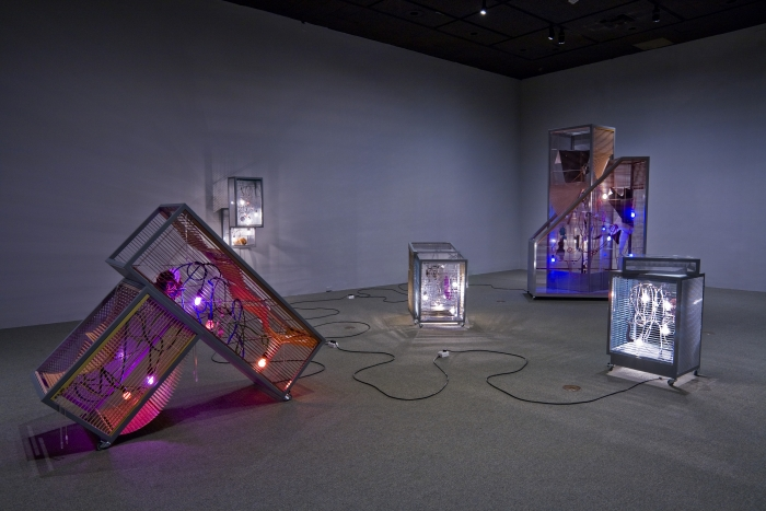 Haegue Yang, Doubles and Couples - Version Turin, Installation view, LACMA, 2008