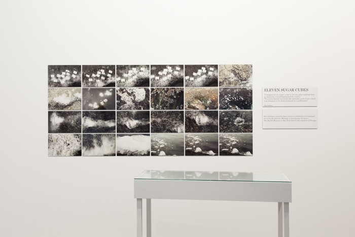 Dan Graham Eleven Sugar Cubes, 1970/2014 Digital C-print  37 x 84 x .125 inches (94 x 213.4 x .3 cm) 24 parts: each 9 1/4 x 14 inches (24.1 x 28.6 cm)