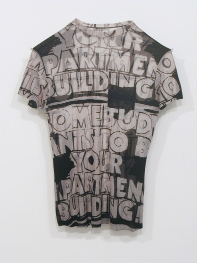 Jim Drain, Untitled (apartment building t-shirt), 2007, C-print, Mounted on Aluminum, 26 1/4 x 20 1/2 x 1 inches