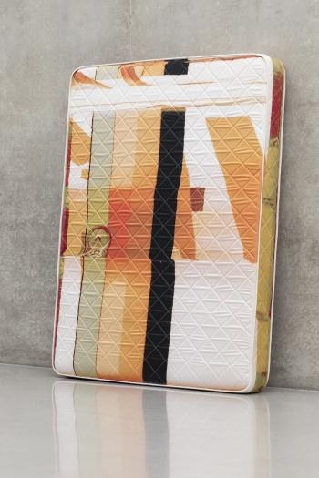 Guyton \ Walker Canstripe_Pumpkinspice_Mattress, 2013 Mattress 80 x 60 x 8 inches (203.2 x 152.4 x 20.3 cm)