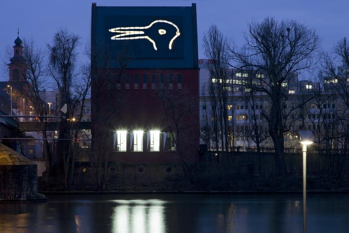 Lutz Bacher Installation view Portikus Frankfurt 2013