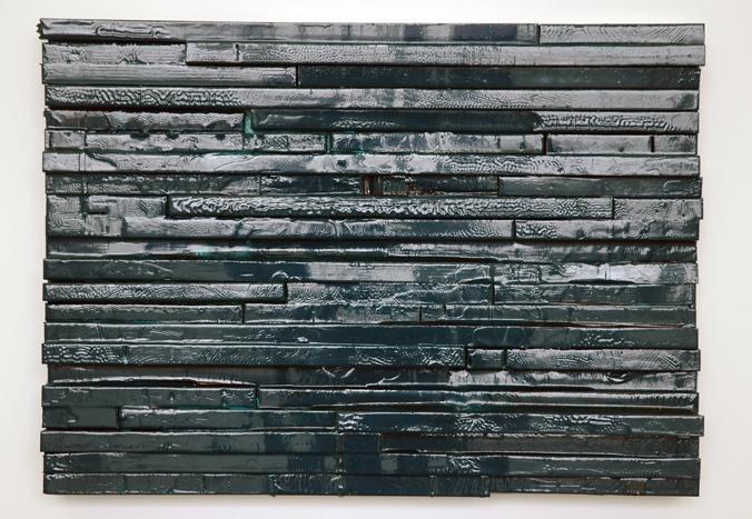Michaela Meise Glossy Moll 1, 2005 wood, resin enamel 16 x 22 x 3 1/4 inches (40.6 x 55.9 x 8.3 cm)