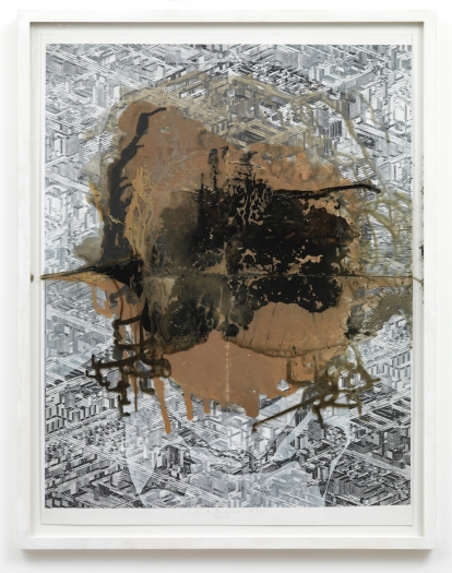 Thomas Bayrle Carlos, 1977/2010 Acrylic, ink, photography collage on cardboard 31 1/4 x 23 1/2 inches (79.4 x 59.7 cm)