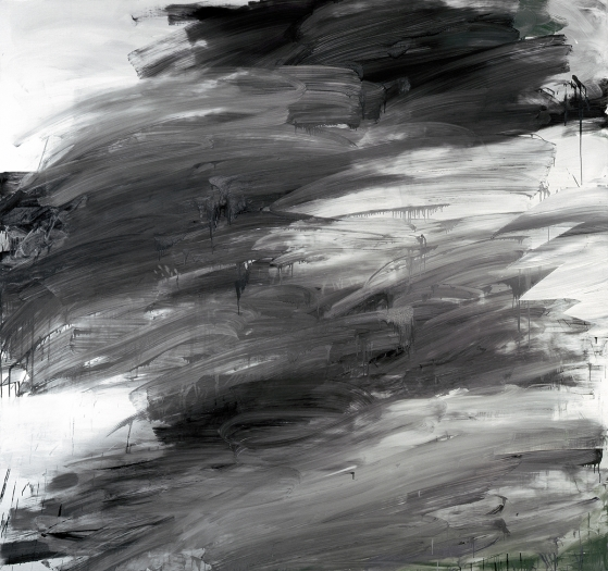 Jacqueline Humphries  Kat, 2006  Oil on linen  90 x 96 inches (228.6 x 243.8 cm)