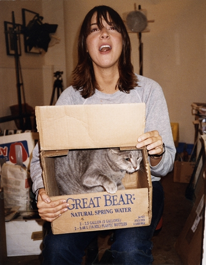 Dan Graham Chan Marshall (Cat Power) with cat, 2001 C-print Image: 14 x 11 inches (35.6 x 27.9 cm) Frame: 17 5/16 x 14 5/8 x 1 3/8 (44 x 37.1 x 3.5 cm)