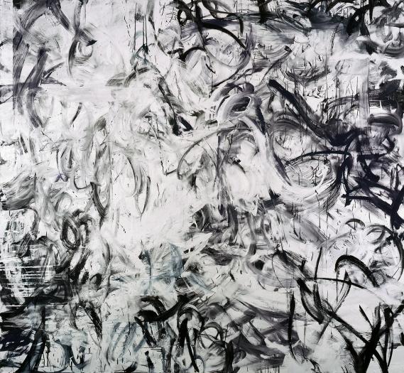Jacqueline Humphries 80s-90s, 2006 Oil on linen 80 x 86 inches 203.2 x 218.4 cm