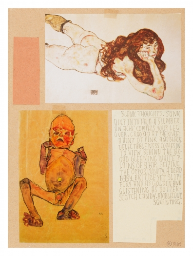 Richard Hawkins Ankoku 29 (Dead baby), 2012 Collage 19 1/2 x 15 3/4 x 1 inches (49.5 x 20x 2.5 cm