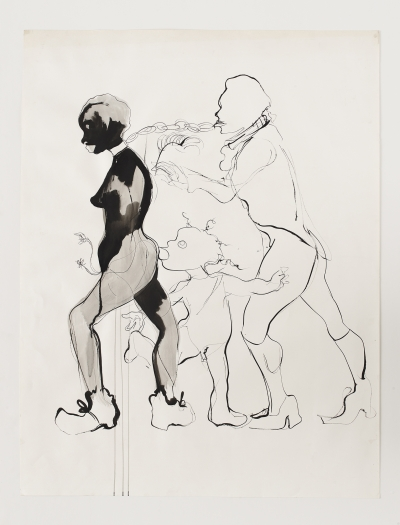 Kara Walker Untitled, 1993 Ink on paper 50 x 38 inches (127 x 96.5 cm)