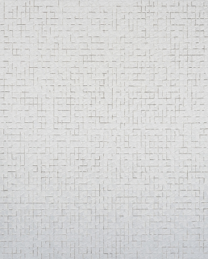 Chung Sang-Hwa Untitled 2015-2-17, 2015 Acrylic and kaolin on canvas 63 7/8 x 51 3/8 inches (162.2 x 130.3 cm)