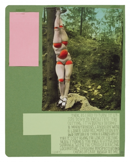 Richard Hawkins Ankoku 58 (Disbellmered), 2012 Collage 18 x 15 1/2 x 1 inches 45.7 x 39.4 x 2.5 cm