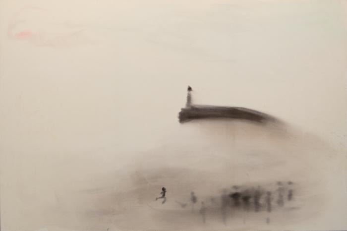 Sophie von Hellermann Harbor Arm , 2011 Acrylic on canvas 78 3/4 x 118 7/8 inches (200 x 301.9 cm)