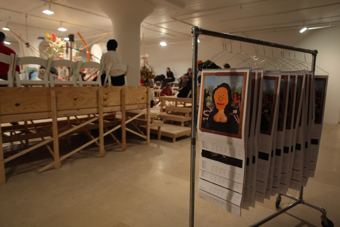 gelitin, Blind Sculpture, Performance view, Greene Naftali, New York, 2010