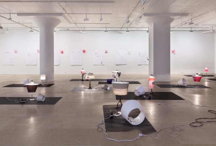 Josef Strau, Installation view, Exercises ab initio..., Greene Naftali, New York, 2012