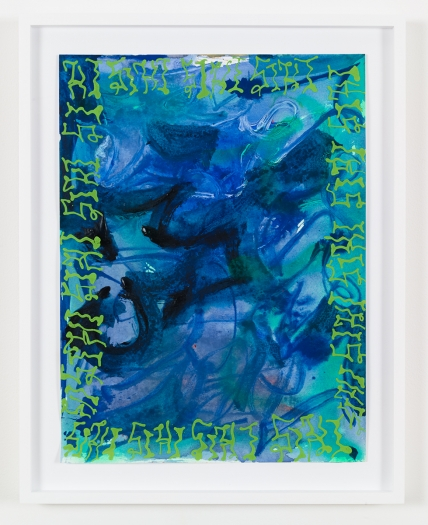 Ida Ekblad Untitled, 2015 Watercolor and marker on paper Paper: 15 3/4 x 11 7/8 inches (40 x 30.2 cm) Frame: 18 5/8 x 14 3/4 inches (47.3 x 37.5 cm)