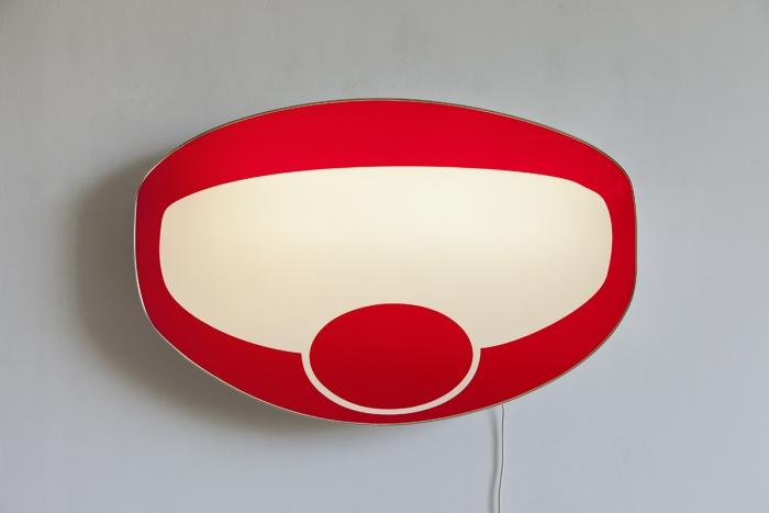 Daniel Pflumm Untitled (Oetker), 1999 Lightbox 31 x 42 x 6 inches (78.7 x 106.7 x 15.2 cm)