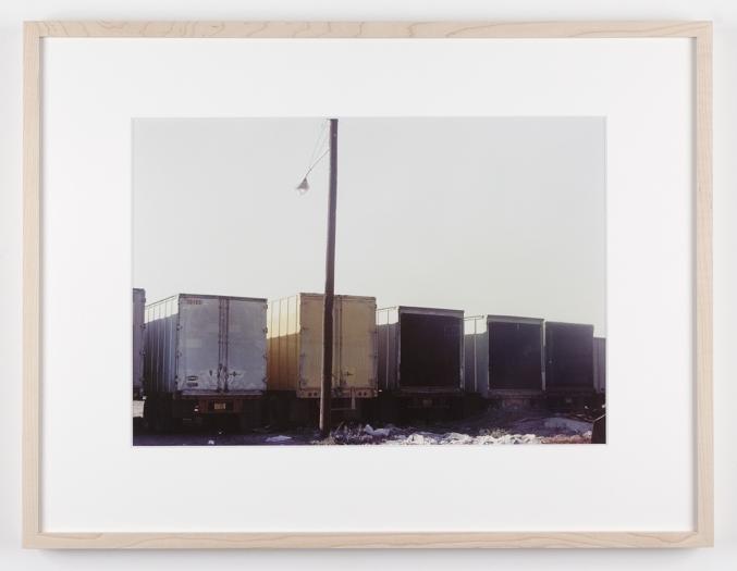 Dan Graham Trucks, Secaucus, New Jersey, 1966 C-print Framed: 17 1/8 x 22 1/4 inches (43.5 x 56.5 cm)