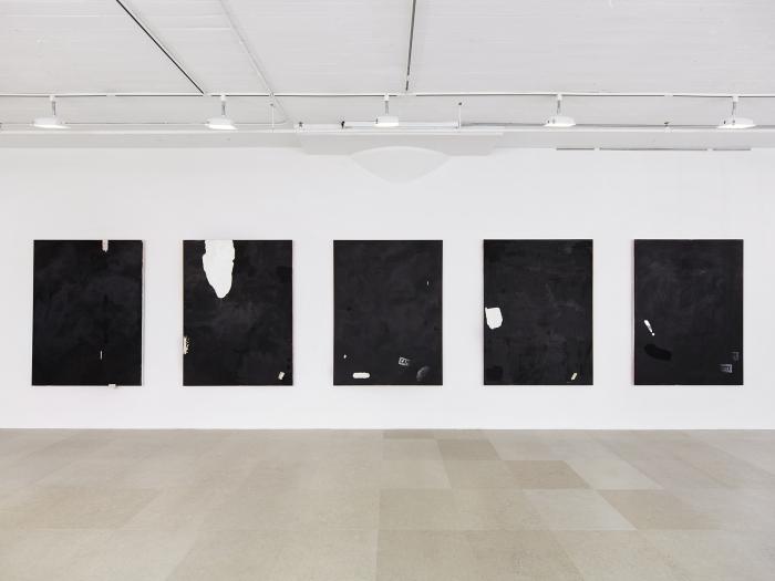 Installation view, on hold, Greene Naftali, New York, 2015